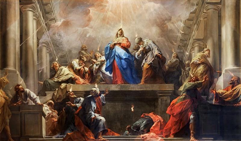 Jean Restout I (1663-1702) -- Pentecost. Part 3 Louvre