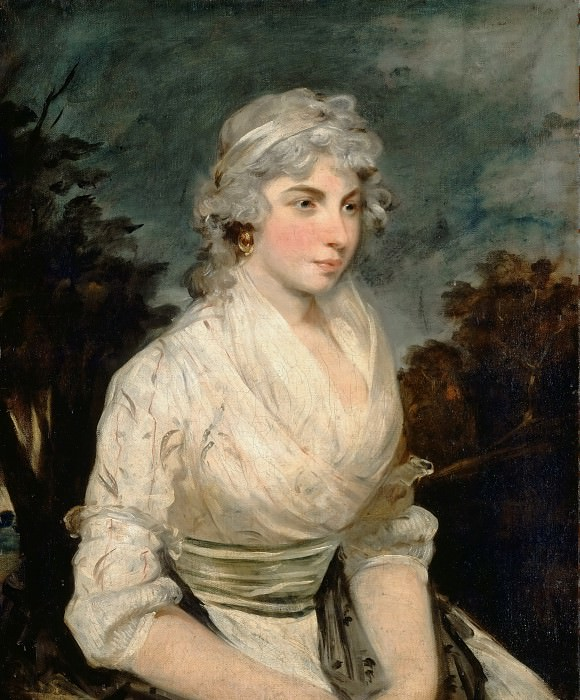Attributed to John Hoppner -- Portrait of a Woman. Part 3 Louvre