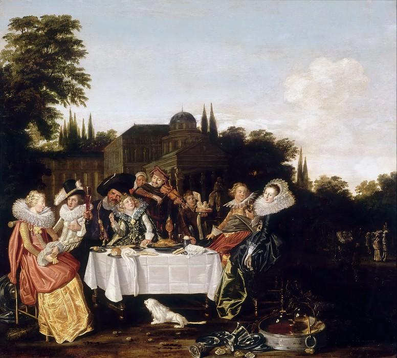 Халс, Дирк (Харлем 1591-1656) -- Банкет в провинции. часть 3 Лувр