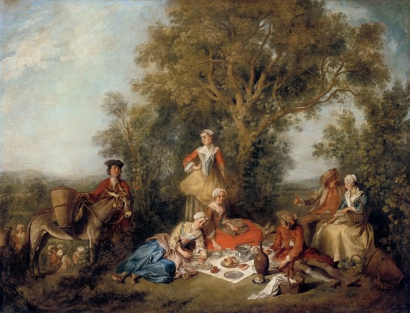 Nicolas Lancret -- Autumn. Part 3 Louvre