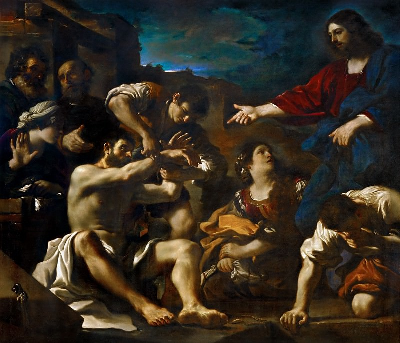 Guercino (1591-1666) -- The Resurrection of Lazarus. Part 3 Louvre
