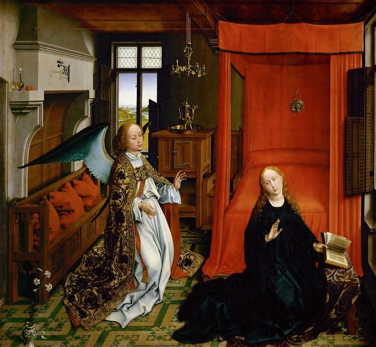 Rogier van der Weyden -- Annunciation. Part 3 Louvre