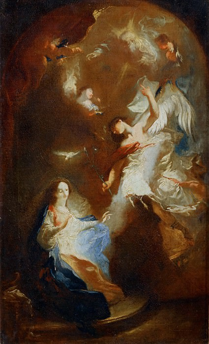 Maulpertsch, Franz Anton -- Annunciation. Canvas, RF 1997-5. Part 3 Louvre