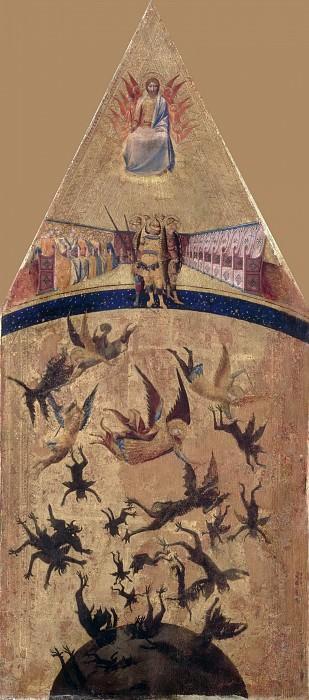 Мастер падения мятежных ангелов (сиенская школа 1325-50) -- Падение мятежных ангелов. часть 3 Лувр