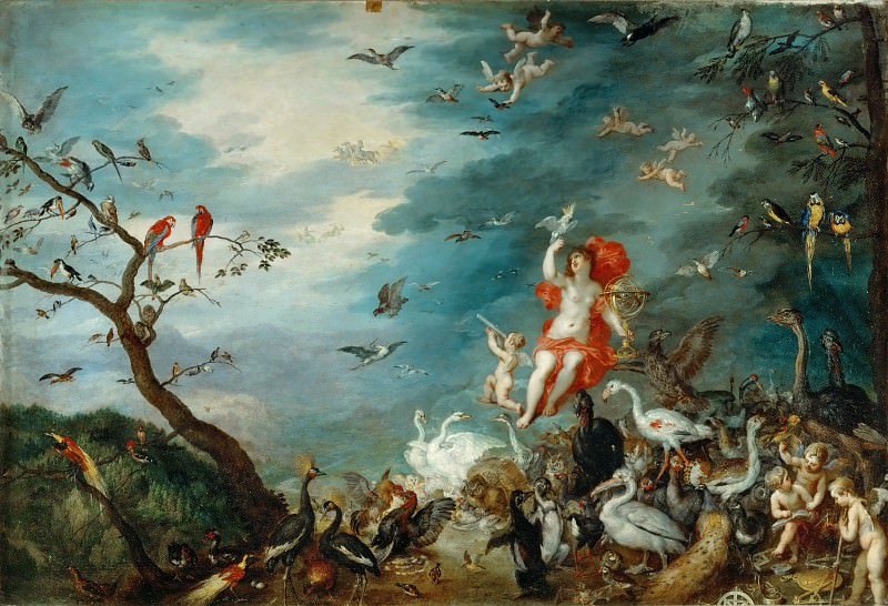 Jan Brueghel the elder -- Air. Part 3 Louvre