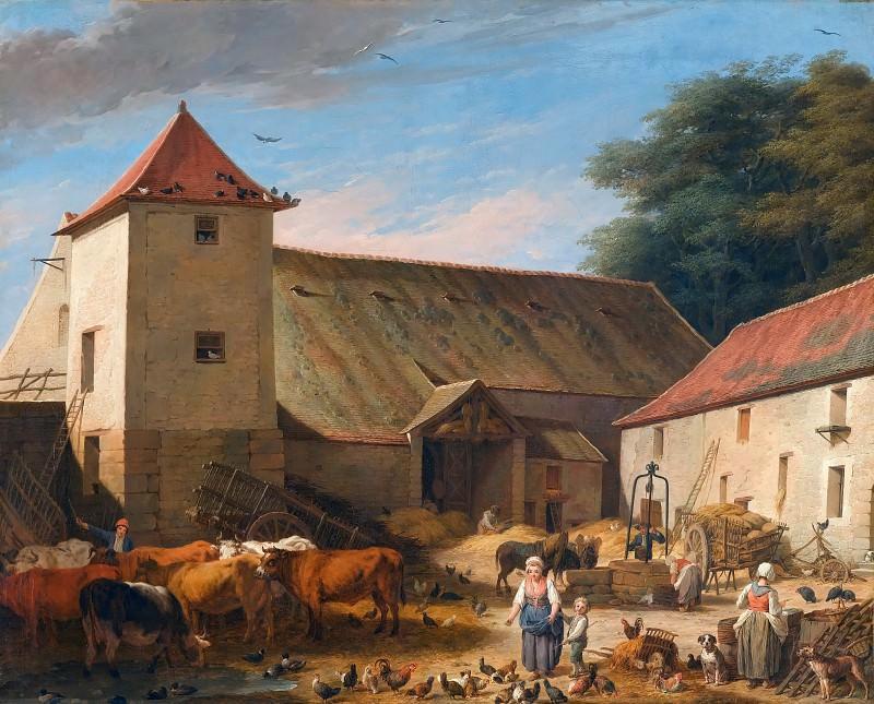 Nicolas Bernard Lépicié -- Farmyard ('Cour de ferme'). Part 3 Louvre