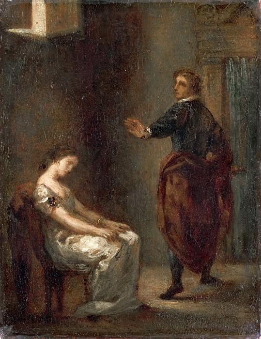 Eugène Delacroix -- Hamlet and Ophelia. Part 3 Louvre