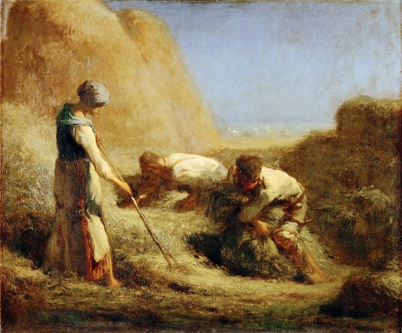 Jean-François Millet -- The Haymakers. Part 3 Louvre