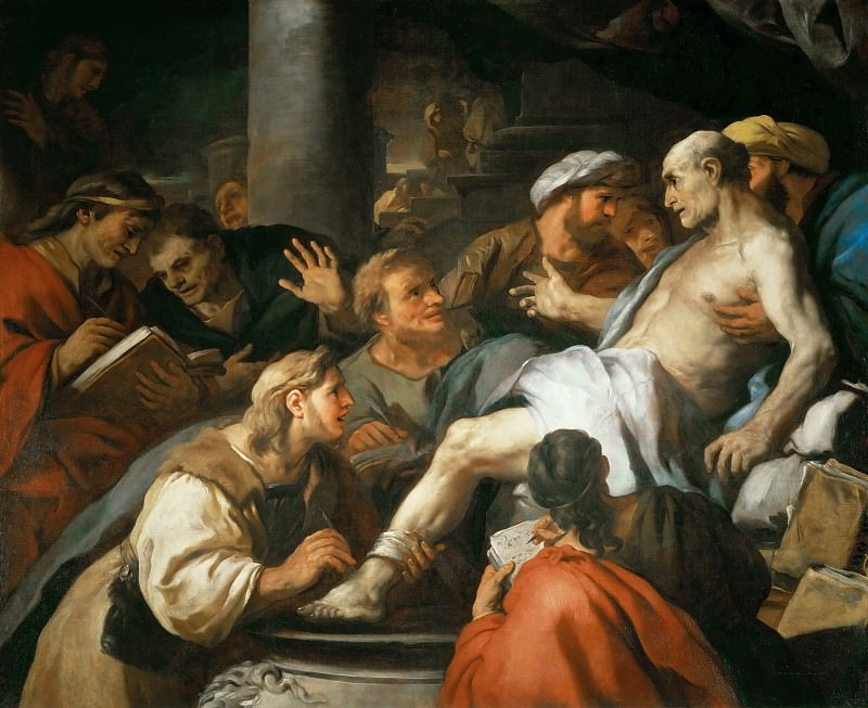 Luca Giordano -- The Death of Seneca. Part 3 Louvre