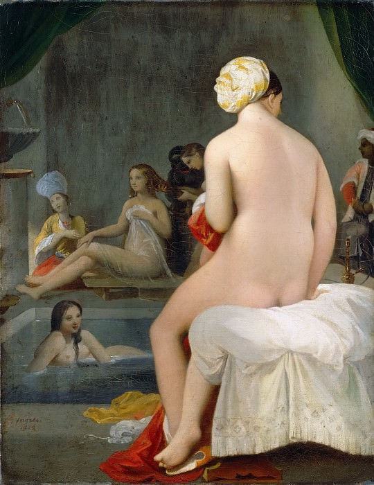 Jean-Auguste-Dominique Ingres -- Small Bather. Interior of a Harem. Part 3 Louvre