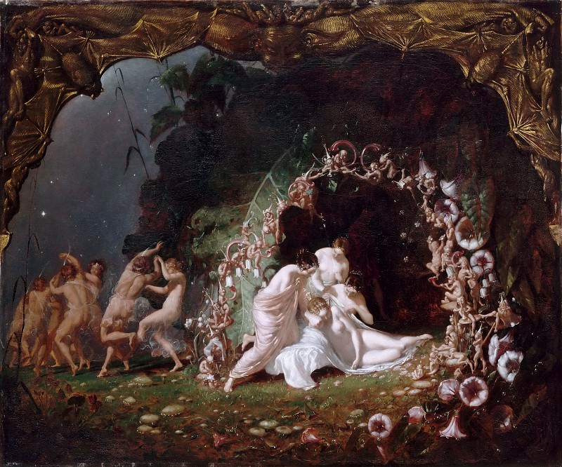 Richard Dadd -- The slumber of Titania. Part 3 Louvre