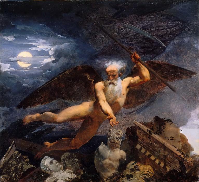 Мозес, Жан-Батист (1784 Корбей - 1844 Париж) -- Время, руины и памятники искусства. часть 3 Лувр