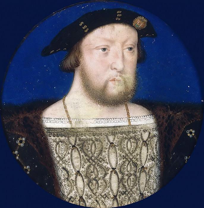 Lucas Horenbout -- Portrait of King Henry VIII. Part 3 Louvre