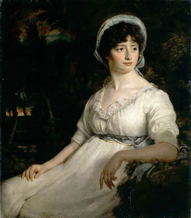 Attributed to John Opie -- The Woman in White. Part 3 Louvre