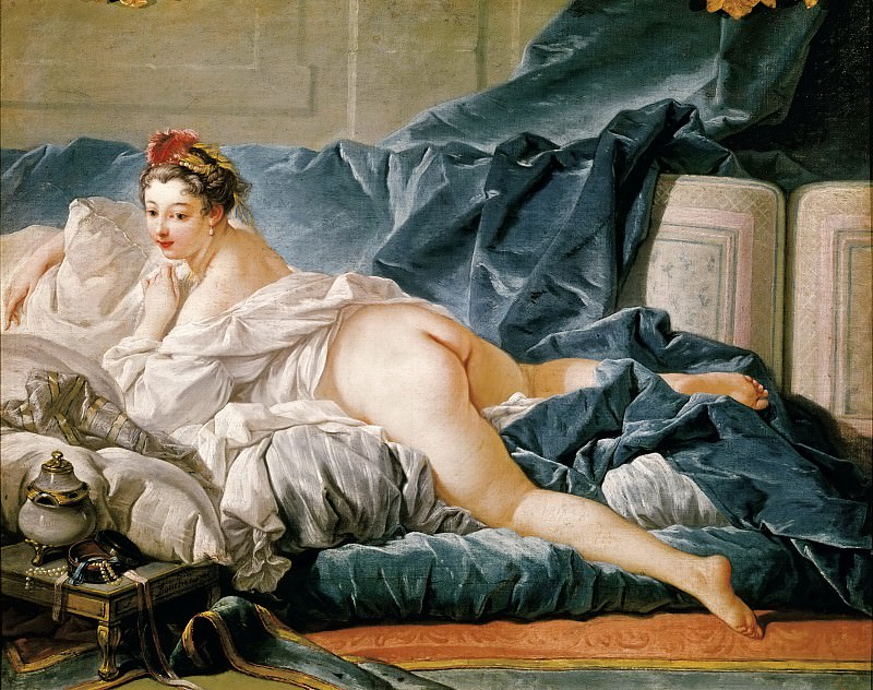 François Boucher -- The Odalisque. Part 3 Louvre