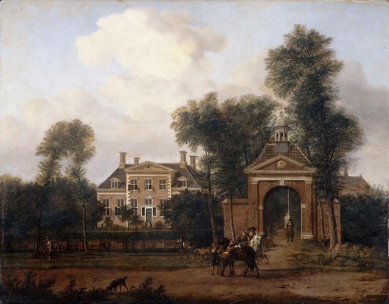 Jan van der Heyden, figures by Adriaen van de Velde -- Harteveld House in Maarssen, near Vecht (Utrecht Province). Part 3 Louvre