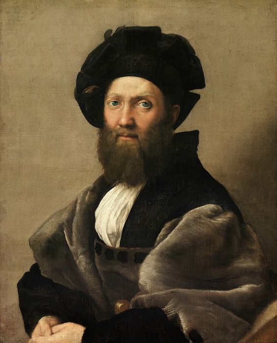 Рафаэль (Рафаэлло Санцио) (1483 Урбино - 1520 Рим) -- Baldassare Castiglione. Part 3 Louvre