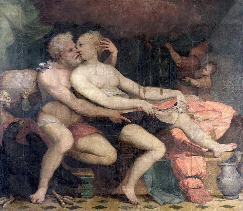 Giulio Romano -- Jupiter and Danae. Part 3 Louvre