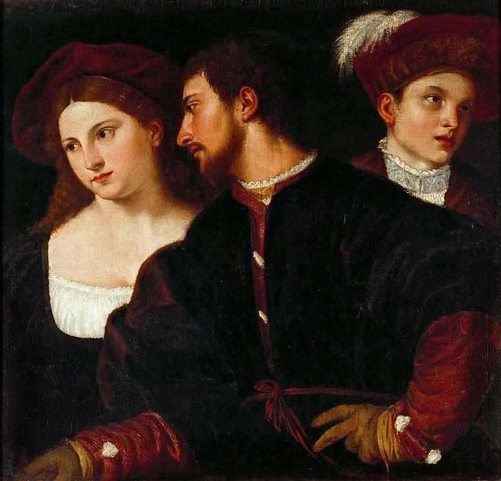 Self-Portrait with Friends. Titian (Tiziano Vecellio)