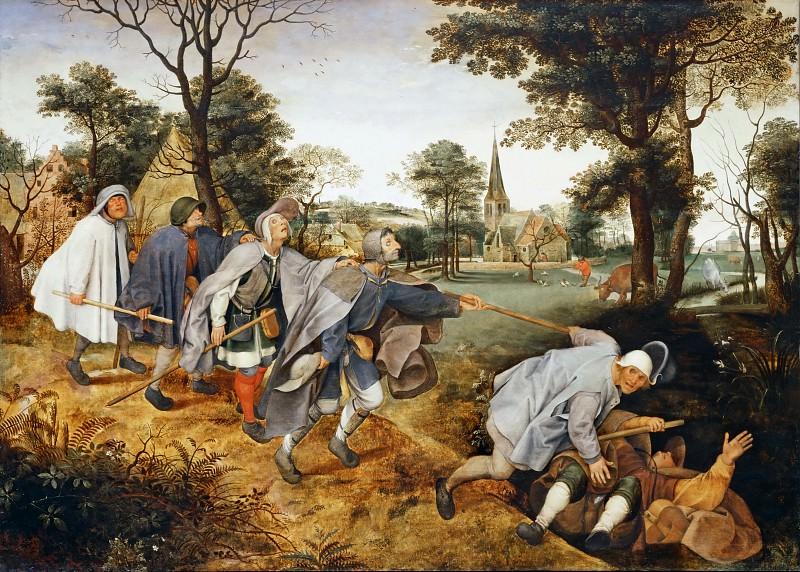Pieter Brueghel II (1564/1565-1637/1638) -- The Blind Leading the Blind. Part 3 Louvre