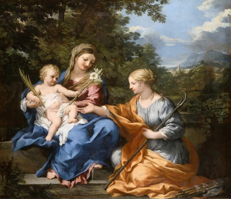Pietro da Cortona -- The Virgin and Child with St. Martine. Part 3 Louvre