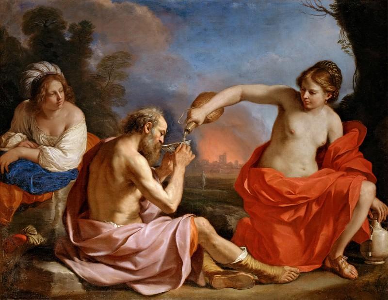 Гверчино (Джованни Франческо Барбьери) (1591 Ченто - 1666 Болонья) -- Лот с дочерьми. часть 3 Лувр