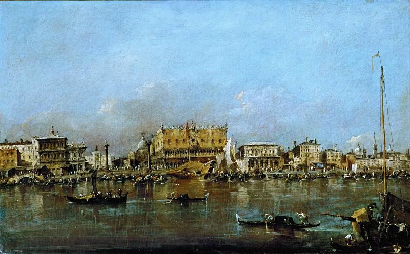 Гварди, Франческо (Венеция 1712-1793) -- Канал и площадь святого Марка. часть 3 Лувр