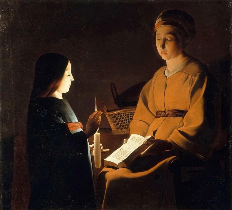 After Georges de La Tour -- Education of the Virgin. Part 3 Louvre