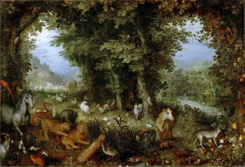 Jan Brueghel the elder -- Earthly Paradise. Part 3 Louvre