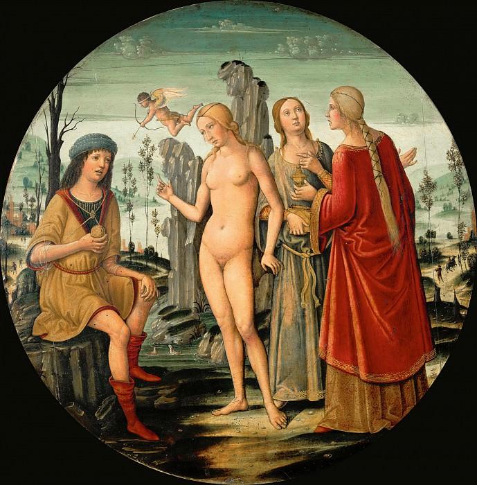 Girolamo di Benvenuto -- Judgment of Paris. Part 3 Louvre