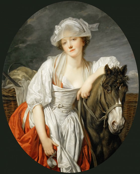 Jean-Baptiste Greuze (1725-1805) -- The Milkmaid. Part 3 Louvre