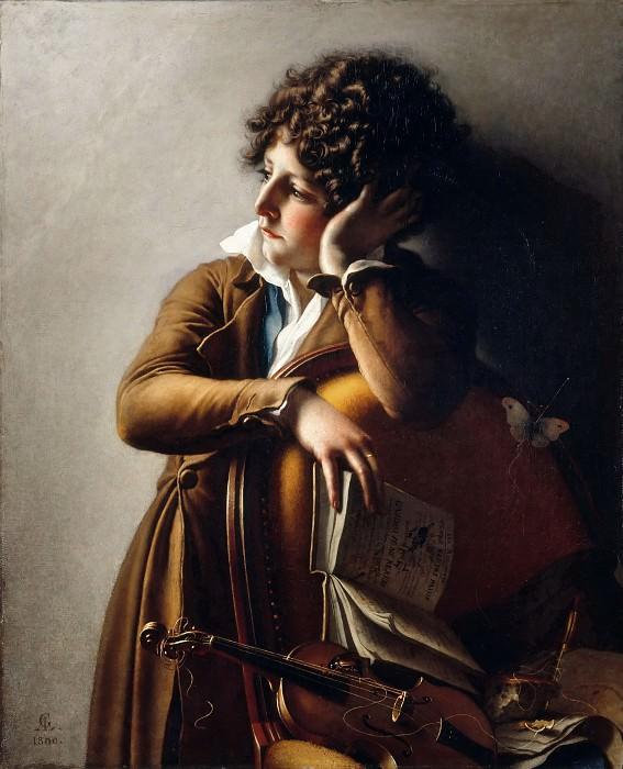 Anne-Louis Girodet de Roucy-Trioson -- Portrait of Benoît-Agnès Trioson, known as Ruehaus or Ruoz (1790?1804). Previously known as Romainville Trioson. Part 3 Louvre