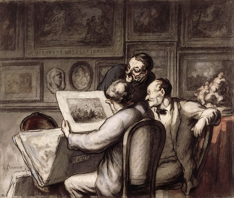 Honoré Daumier -- The Print Lovers (Les Amateurs d'estampes). Part 3 Louvre