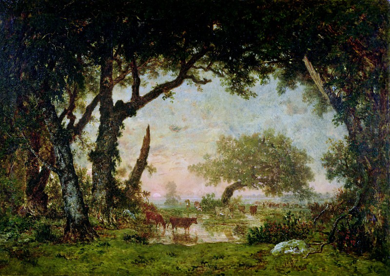 ROUSSEAU, Th?odore -- (b. 1812, Paris, d. 1867, Barbizon). Part 3 Louvre