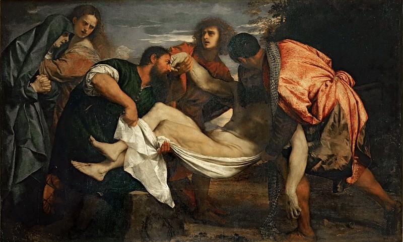 Titian -- Entombment. Part 3 Louvre