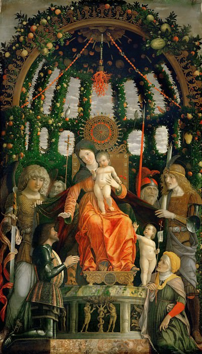 Andrea Mantegna -- The Virgin of Victory. Part 3 Louvre