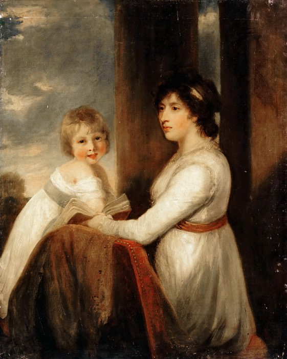 Attributed to John Hoppner -- Lady Musgrave with a Child. Part 3 Louvre