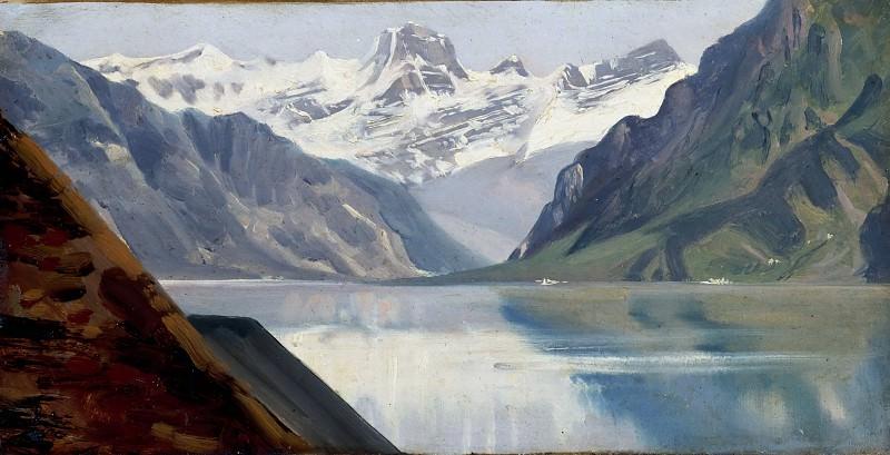 Achille Etna Michallon -- Lake and mountains. Part 3 Louvre