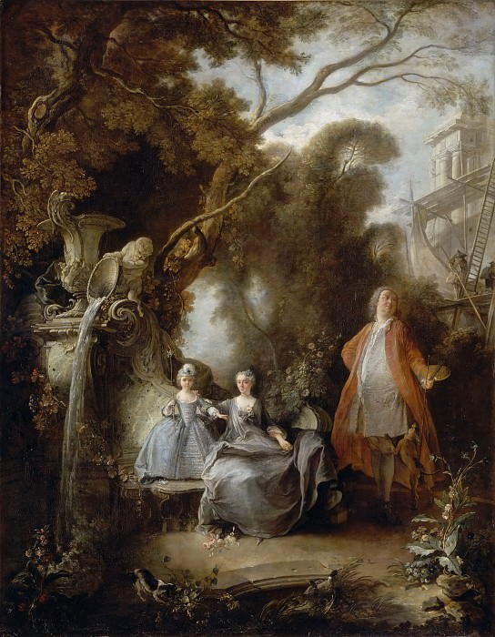 Jacques de Lajoue II -- The Painter and his Family. Part 3 Louvre