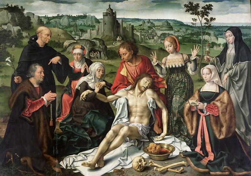 Клеве, Йос ван (ван дер Беке) (Антверпен 1485-1540) -- Алтарь оплакивания Христа - Оплакивание. Part 3 Louvre