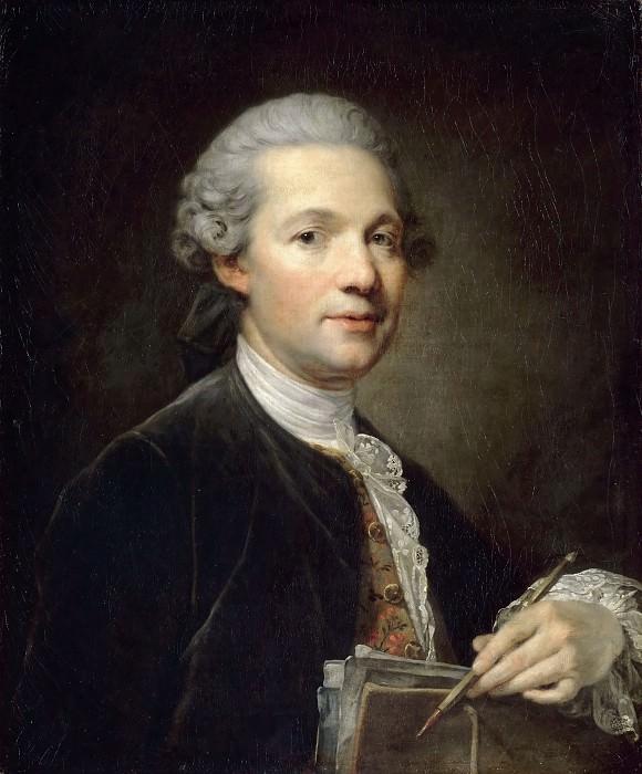 Jean-Baptiste Greuze -- Portrait of an Artist (Portrait of the Architect Ange-Jacques Gabriel; Self Portrait). Part 3 Louvre