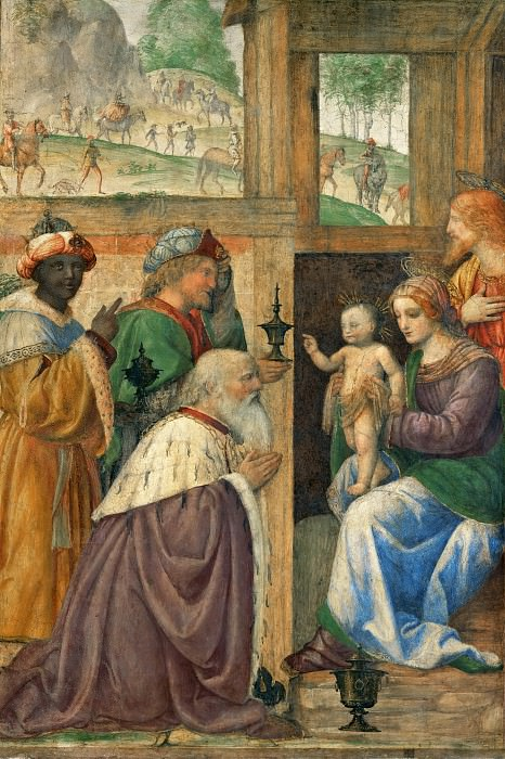 Bernardino Luini -- Adoration of the Magi. Part 3 Louvre