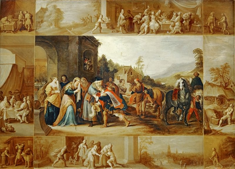 Frans Francken II -- Parable of the Prodigal Son. Part 3 Louvre