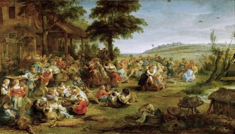Peter Paul Rubens -- La Kermesse. Part 3 Louvre