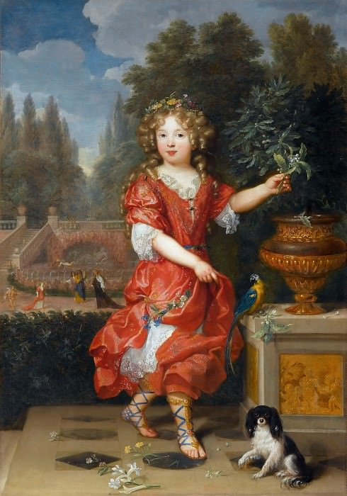 Pierre Mignard I -- Mademoiselle de Blois. Part 3 Louvre
