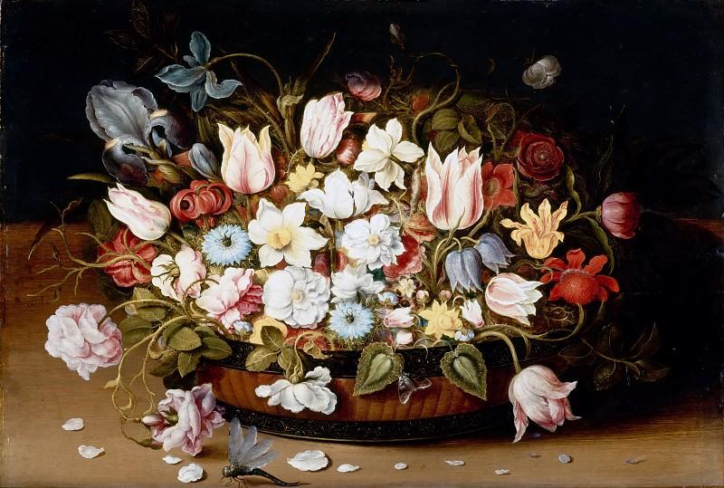 Берт, Осиас (Антверпен 1580-1624) -- Корзина с цветами. часть 3 Лувр