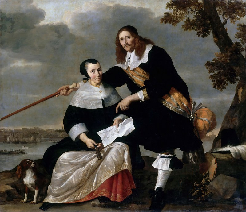 Nicolaes Van Helt Stockade -- Portrait of Hendryck Henck (Huyck) and his Wife Catharina Brouwers. Part 3 Louvre