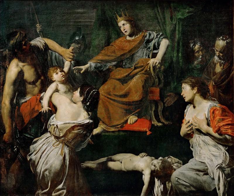 Булонь, Жан-Валантен де (1594 Куломье - 1632 Рим) -- Суд Соломона. часть 3 Лувр