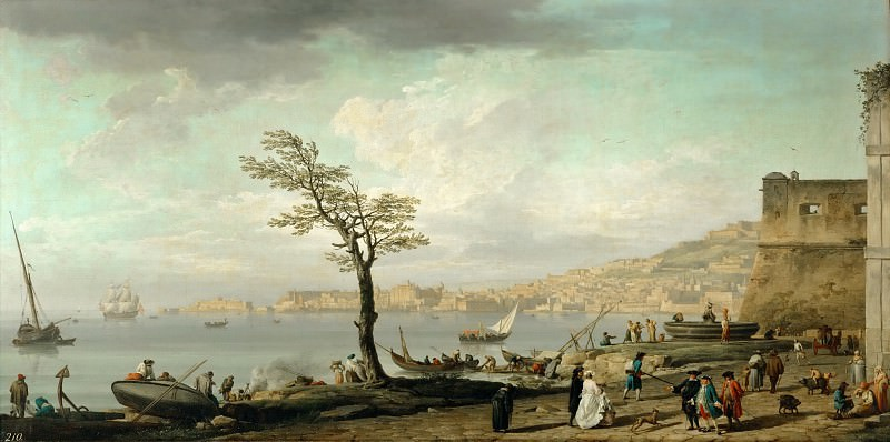 Claude-Joseph Vernet -- View of the Gulf of Naples. Part 3 Louvre