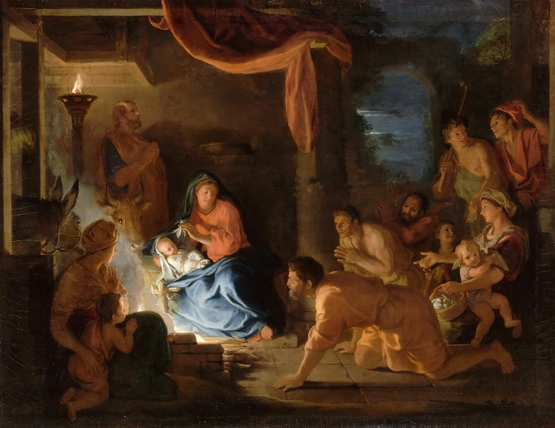 Charles Le Brun -- Adoration of the Shepherds. Part 3 Louvre